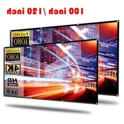 """100'' 120"""" Portable Foldable Projector Screen 16:9 HD Theate"""