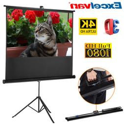 """100"""" 16:9 3D 4K Pull Up Projector Projection Screen HD Movie"""