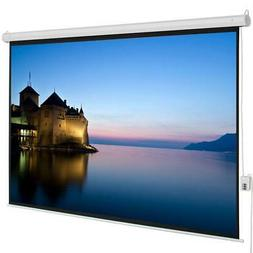 "100"" 4:3 Electric Projector Projection Screen 80X60 RC Autom"