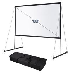 "Pre Sale 100"" Portable Detachable Projector Screen w/ Stand"