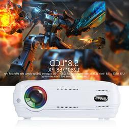 10000 Lumens Android 7.0 HD 1080P WIFI 3D LED Home Cinema Th