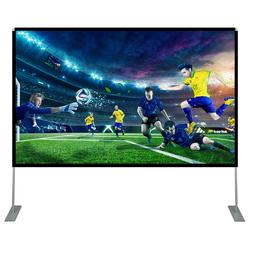 100Inch Projector Screen With Stand Polyester Portable Trave