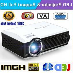 1024*600 Multimedia LCE Projector 2000:1 Contrast Ratio HD 1
