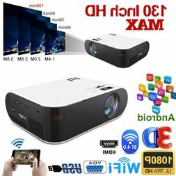 1080P 4K Android Portable Mini Video Projector Wifi Bluetoot