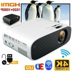 4K 1080P HD WiFi 3D LCD Mini Video Theatre Projector Home Ci