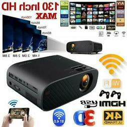 1080P Full HD LED Projector 4K WiFi Android 6.0 BT Home Thea