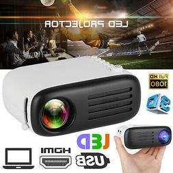 1080P Full HD Mini Projector Home Movie Cinema Theater HDMI