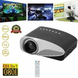 1080P HD LED Home Projector Projection Theater Party Photo F
