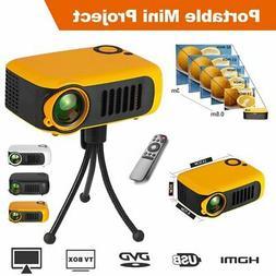 1080P HD Portable Mini Projector Home Theater Video Movie Ga