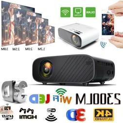 1080P HD WiFi Portable 3D LED Mini Video Projector Home Cine