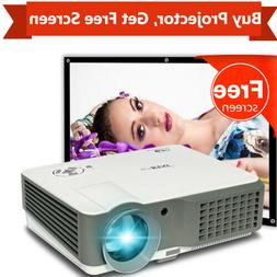 1080p Home Theater LED Projector 4000lm Movie HDMI*2 USB*2 V