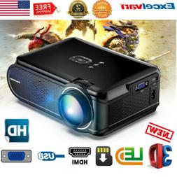 1080P LED Mini Projector USB SD Home Theater 1080P HDMI For