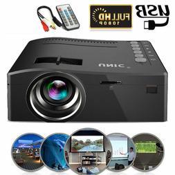 1080P Mini HD LED Projector Home Cinema Theater Multimedia P