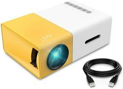 1080p Portable LED Mini Projector - White/Yellow