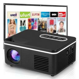 """1080P Portable Movie Mini Projector, 60"""" Display, Built-in S"""