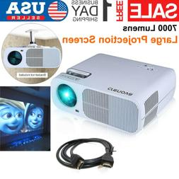 1080P Portable Projector Home theater Cinema  HDMI USB VGA A