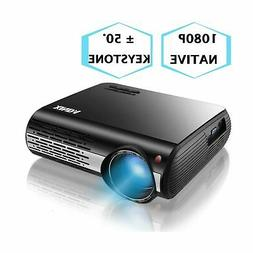"""1080P Projector,XINDA 5000 Lux HD Video Projector with 300"""""""