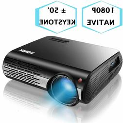 1080P Projector,XINDA 5000 Lux Native HD 1080P Projector wit