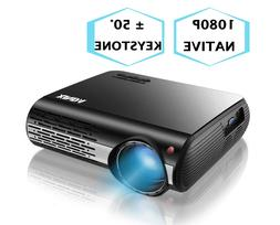 """1080P Projector,XINDA 5000 Lux Projector with 300""""Display,"""
