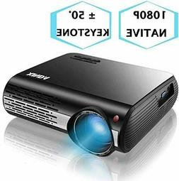 """1080P Projector,XINDA 6600 Lux Outdoor Projector with 327"""" D"""