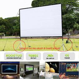"""100"""" 16:9 HD 3D 4K Movie Portable Projector Screen Outdoor H"""