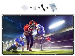"""120"""" 16:9 Projection Projector Screen Manual Pull Down Home"""