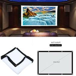 "120"" Indoor Outdoor Portable Projector Screen Projection Scr"