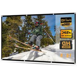 120'' Portable Foldable Projector Screen 16:9 HD Home Theate