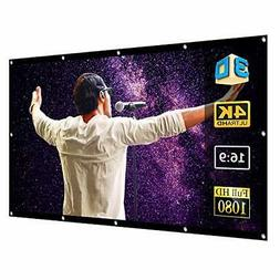 120 projector screen for 4k hd tv