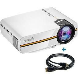 ELEPHAS 1200 Lumens LED Mini Video Projector Support 1080P P