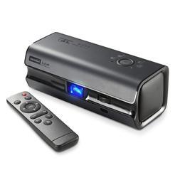 Hibeam 150 ANSI DLP Protable Projector, with Dual HiFi Speak