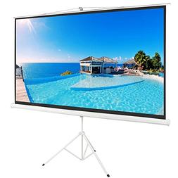 "ShowMaven 100"" 16:9 HD Adjustable Tripod Projector Projectio"