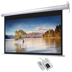Electric Projector Screen Retractable Ceiling Mounted 92''16