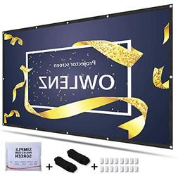 OWLENZ 4K HD 120Inch 16:9 Portable Projector Screen Multi-Fu