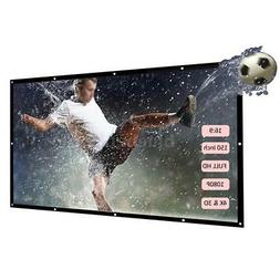 """16:9 Portable Wall Projection Screen Projector 60'' 84"""" 150"""""""