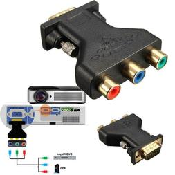 1PC VGA To RCA Adapter Computer Projector Connector TV Cable