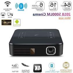 2019 HD 4K DLP HD Home Theater Projector Wifi 1080P Mini And