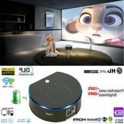 2019 New Mini DLP Android HD 1080P Smart Projector Wifi Blue