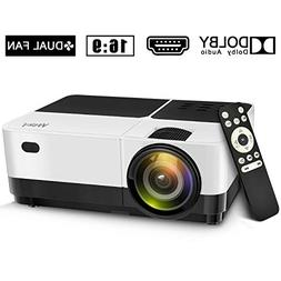 Wsky 2019 Newest LCD LED Outdoor Portable Home Theater Video