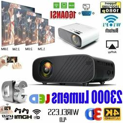 23000 Lumens 4K 1080P HD WiFi 3D LED Mini Video Theatre Proj