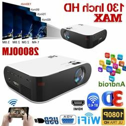 28000LM 4K 1080P HD WiFi 3D LED Bluetooth Video Theatre Proj