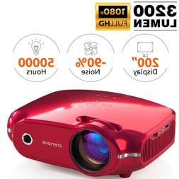 3200 Lumen Home Theater Projector Full HDCinema HDMI with Du