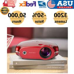 3200LMS Smart Android Projector HD 1080p HDMI SD/AV for Home