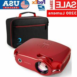 3200LMS SmartPhone HD Projector With Carry Bag HDMI for Home