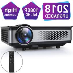 """3500 Lumens Projector with 1080P 200"""" Display Support PS4 Bl"""