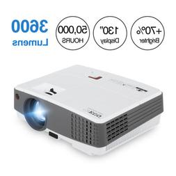 EUG HD 1080P 4000lms LED Projector Movie Video Home Theater