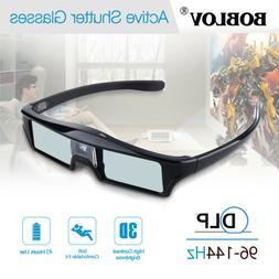 BOBLOV 3D DLP-Link 144Hz Active Shutter Glasses 8M Movie For