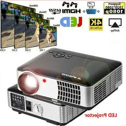 3D Full HD 1080P LED LCD Projector Cinema HDMI Room Home The