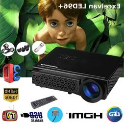 3D Full HD 1080P LED Projector 5000 Lumens Multimedia Home T