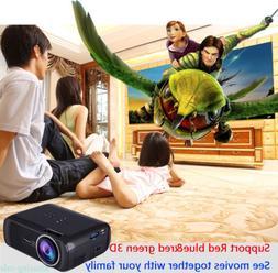 3D Home Cinema HD 1080P LCD VGA HDMI Movie Projector 1024*76